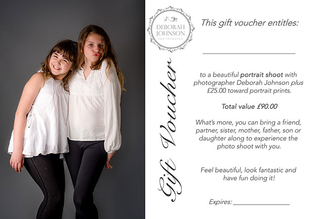 Gift voucher for photography and digital images